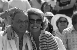 Frank Sinatra and Barbara Marx at a Los Angeles Dodgers World Series game1977 © 1978 Gunther - Image 11503_0008