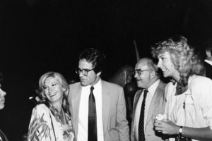Warren Beatty with Ed Asner and Diane Ladd at an L.A. unity bash to help erase the campaign debt of George McGovern  06-01-1984 © 1984 Gunther - Image 11509_0001
