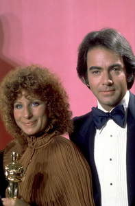 """Academy Awards: 49th Annual,"" Barbra Streisand (Best Song), Neil Diamond. 1977. © 1978 Gunther - Image 11512_0011"