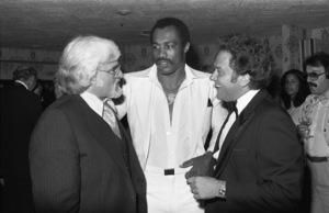 Motown President Barney Ales, boxer Ken Norton and Casablanca Records President Neil Bogart inLos Angeles  1978 © 1978 Bobby Holland - Image 11517_0002