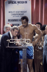 Ken Norton at official weigh-in at Marriott