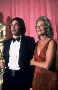 """""""Academy Awards: 51st Annual,"""" Oliver Stone, Lauren Bacall. 1979. © 1979 Gunther - Image 11518_0001"""