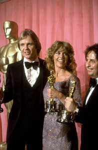 """Academy Awards: 51st Annual,"" Jon Voight (Best Actor), Jane Fonda (Best Actress), Michael Cimino (Best Director). 1979. © 1979 Gunther - Image 11518_0004"