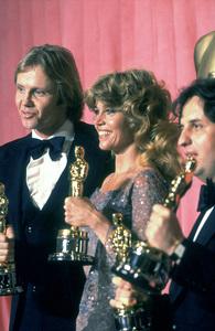 """Academy Awards: 51st Annual,"" Jon Voight (Best Actor), Jane Fonda (Best Actress), Michael Cimino (Best Director). 1979. © 1979 Gunther - Image 11518_0005"