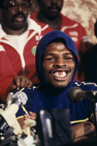 Leon Spinks press conference after defeating Muhammad Ali1978© 1978 Gunther - Image 11585_0007