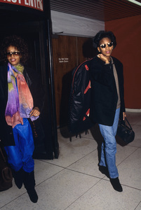 Whitney Houston with Robyn Crawford at Los Angeles International Airport1989© 1989 Gary Lewis - Image 11609_0016