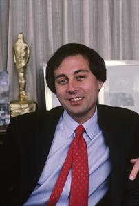 Brandon Tartikoff in his NBC office1987© 1987 Gunther - Image 11617_0002