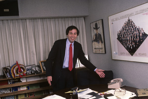 Brandon Tartikoff in his NBC office1987© 1987 Gunther - Image 11617_0017