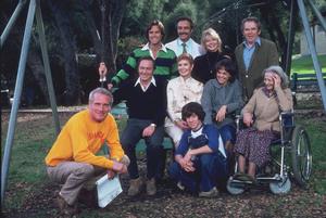 """Shadow Box,""Director Paul Newman and Caston set / 1980 ABC. © 1980 Gene Trindl - Image 11621_0007"