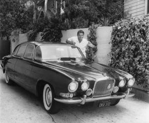 Ted Hartley at home with his 1965 Jaguar Mark 10 Saloon 1965 © 1978 Joe Shere - Image 11714_0002