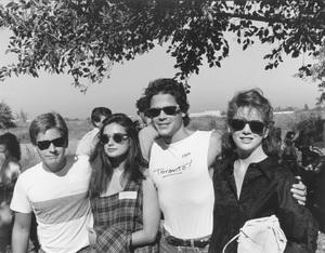 Celebrity Anti-War MarchEmilio Estevez, Demi Moore, Rob Lowe, Melissa Gilbert10-06-1985 © 1985 Gunther - Image 11719_0003