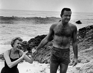 """Deborah Kerr and William Holden during the making of """"The Proud and Profane""""1955 © 1978 Bill Avery - Image 1180_0174"""
