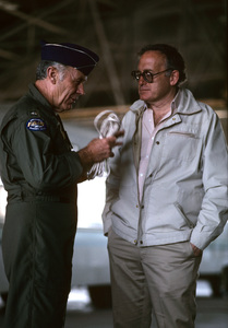 """The Right Stuff""General Chuck Yeager, producer Robert Chartoff1983 Warner© 1983 Ron Grover - Image 11824_0007"
