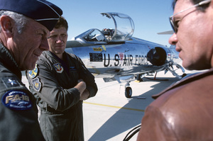 """""""The Right Stuff""""General Chuck Yeager, Bob Patterson1983 Warner© 1983 Ron Grover - Image 11824_0021"""