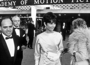 """Academy Awards: 37th Annual,""George Cukor, Audrey Hepburn.1965. © 1978 Bud Gray - Image 1185_0001"