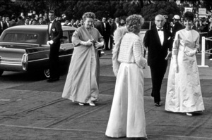 """Academy Awards: 37th Annual,""George Cukor, Audrey Hepburn.1965. © 1978 Bud Gray - Image 1185_0002"