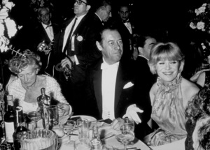 """""""Academy Awards: 37th Annual,""""Glady Cooper, Rex Harrison, and wifeRachel Roberts.  1965. © 1978 Bud Gray - Image 1185_0010"""