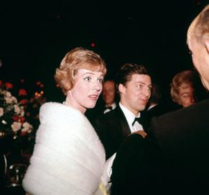 """Academy Awards - 37th Annual""Julie Andrews with husband Tony Walton1965 © 1978 Bernie Abramson - Image 1185_0020"