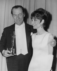 """Academy Awards: 37th Annual""Audrey Hepburn, Rex Harrison1965**I.V. - Image 1185_0040"