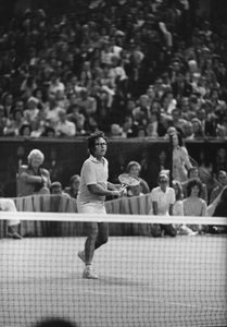 """Bobby Riggsduring the """"Battle of the Sexes"""" Tennis match against Billie Jean King at the Houston Astrodome9-20-1973 © 1978 Gunther - Image 11873_0009"""