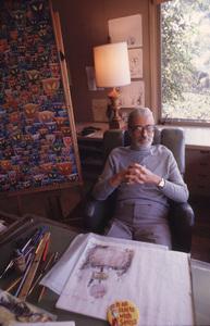 DR.  Theodore Seuss Geiselin his La Jolla  CA.Studio, 1978 © 1978 Gunther / MPTV - Image 11896_0002