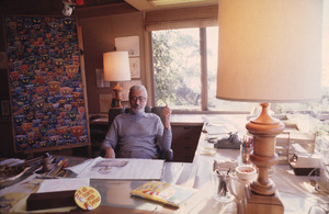 DR.  Theodore Seuss Geiselin his La Jolla  CA.Studio, 1978 © 1978 Gunther / MPTV - Image 11896_0005