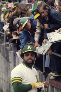 Reggie Jackson playing for the Oakland Athletics1974 © 1978 Gunther - Image 11910_0025