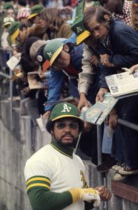 Reggie Jackson playing for the Oakland Athletics1974 © 1978 Gunther - Image 11910_0025