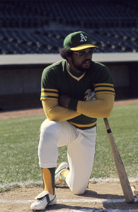 Reggie Jackson playing for the Oakland Athletics1974 © 1978 Gunther - Image 11910_0026