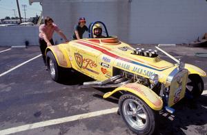 Reggie Jackson in his race car, C. 1979. © 1979 Gunther - Image 11910_1