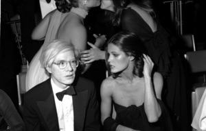 "Andy Warhol & friend. ""Kennedy Benefit For Special Olympics,"" 1976 (c) 1978 Gunther - Image 11936_0007"
