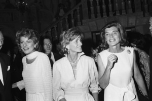 Eunice Kennedy Shriver with Patricia Kennedy Lawford and Jean Ann Kennedy Smith at a fashion show to benefit the Special Olympics1976 © 1978 Gunther - Image 11936_0013