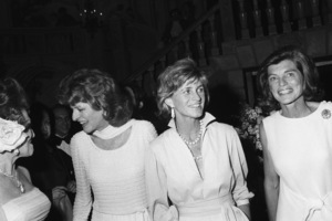 Eunice Kennedy Shriver with Patricia Kennedy Lawford and Jean Ann Kennedy Smith at a fashion show to benefit the Special Olympics1976 © 1978 Gunther - Image 11936_0014