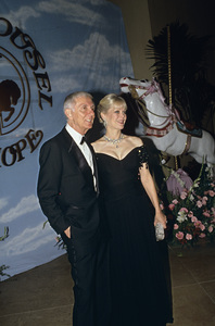 """""""Carousel of Hope Ball""""Aaron Spelling with his wife Candy1990 / Beverly Hilton Hotel © 1990 Gunther - Image 11937_0014"""