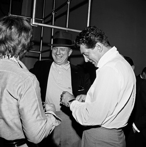 """The Frank Sinatra Timex Show"" (Bing Crosby and Dean Martin Present High Hopes) Jimmy Van Heusen and Dean Martin behind the scenes 1959 © 1978 Gene Howard - Image 1198_0033"
