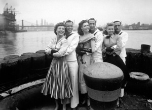 """On The Town""Betty Garrett, Frank Sinatra, Ann Miller, Jules Munshin, Vera-Ellen, Gene Kelly1949 MGM - Image 11997_0003"