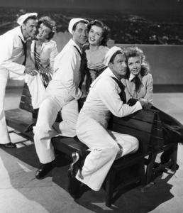 """""""On the Town""""Frank Sinatra, Betty Garrett, Jules Muschin, Ann Miller, Gene Kelly, Vera Ellen1949 MGM**I.V. - Image 11997_0014"""