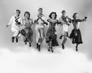 """""""On the Town""""Frank Sinatra, Betty Garrett, Jules Muschin, Ann Miller, Gene Kelly, Vera Ellen1949 MGM**I.V. - Image 11997_0025"""