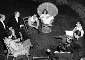 """Philadelphia Story, The ""John Howard, Katharine Hepburn, Director George Cukor, Jimmy Stewart.  (1940)MGM / **I.V. - Image 12011_0019"
