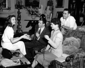 """Philadelphia Story, The""Katharine Hepburn, Jimmy Stewart, Ruth Hussey, Dir. George Cukor.  Film Set(1940)MGM / **I.V. - Image 12011_0026"