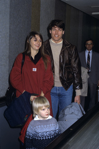 Christopher Reeve with Gae Exton and son Matthewcirca 1980s© 1980 Gary Lewis - Image 1202_0047