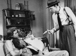 """Nancy Gates, Sterling Hayden and Frank Sinatra in """"Suddenly""""1954 United Artists** I.V. - Image 12046_0005"""
