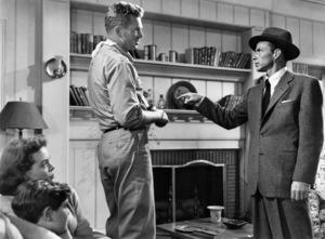 "Kim Charney, Nancy Gates, Sterling Hayden and Frank Sinatra in ""Suddenly"" 1954 United Artists ** I.V."