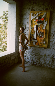 Fernand Leger Art with model in Leger