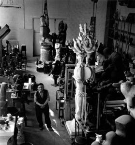 Jacques LipchitzAt his art studio, 1967Copyright John Swope Trust / MPTV - Image 12055_0005