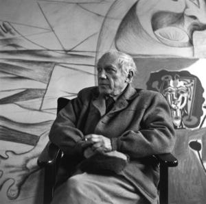 Pablo Picasso at his studio on Rue Des Grands Augustins in Pariscirca 1950s © 1978 Sanford Roth / LACMA - Image 12059_0006