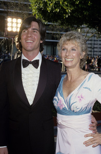 "Cloris Leachman and son Bryan Englund at ""The 52nd Annual Academy Awards""1980© 1980 Gary Lewis - Image 1216_0018"