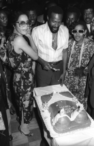 Janis Gaye, Marvin Gaye and his sister Zeola Gaye at Marvin Gaye