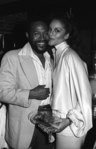 Marvin Gaye and Jane Kennedy at his 40th birthday party being given by Motown Records1979© 1979 Bobby Holland - Image 12163_0031