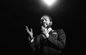 """Marvin Gaye performing at """"Motown Records Night"""" at the BRE Convention in Universal City, CA 1979 © 1979 Bobby Holland - Image 12163_0036"""